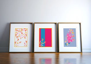 Frantasia Haze Giclee Art Prints from the Wings of Hibiscus Collection. Hand-drawn Art. Floral and Botanical Art Prints. Bold Floral Wall Décor. Art Prints Online. Harrogate Artist and Illustrator.