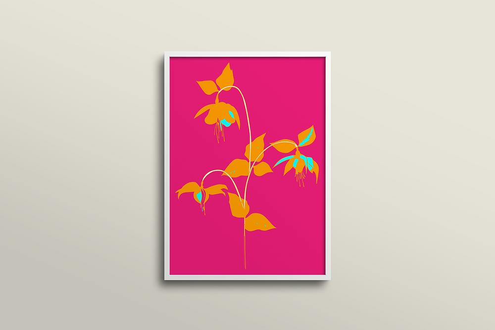 Frantasia Haze Floral Art Prints, Harrogate