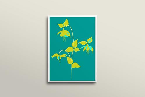 Fuchsia La Vine Bold Art Print in Fuchsia Tropics