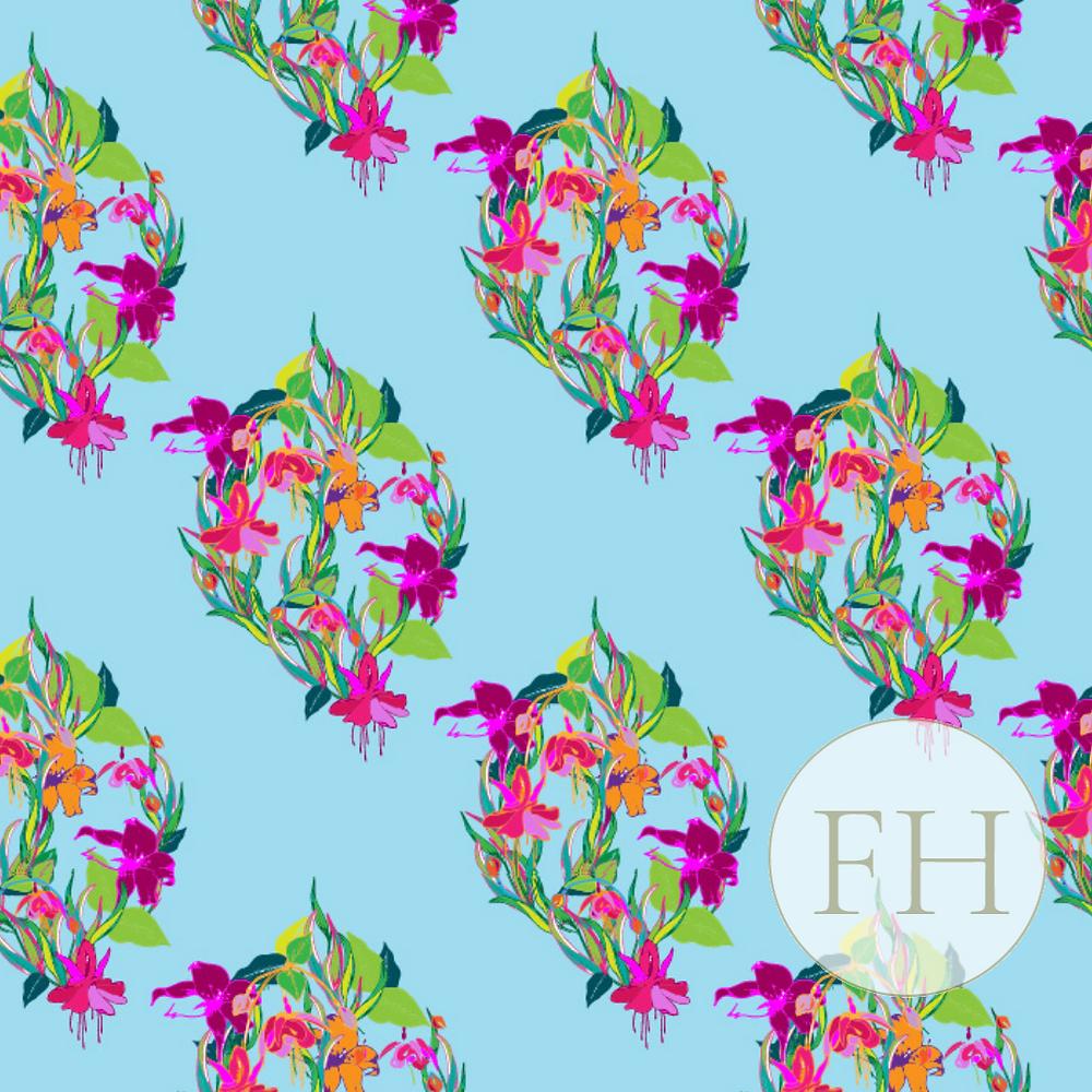 Frantasia Haze Floral Fabrics Harrogate
