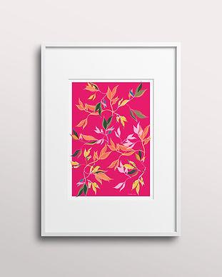 Frantasia Haze Giclee Art Prints. Bold and Floral Art Prints, Botanical Art Wall Décor for Contemporary Interior Design. Shop Hibiscus Leaf, Hand Drawn Fine Art Print.