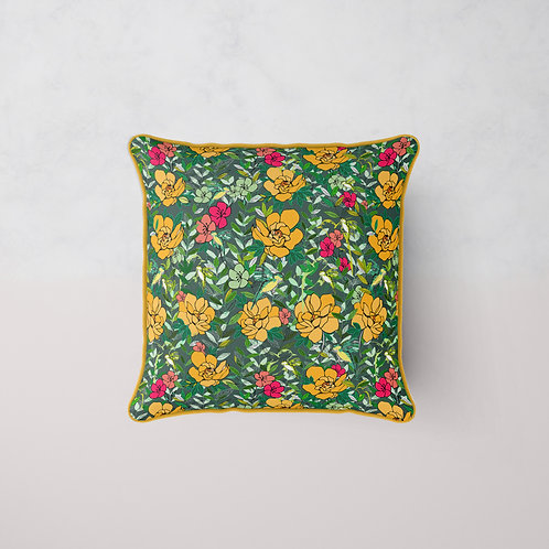 Jungle Afternoon Tea Cushion -Macaroon Forest