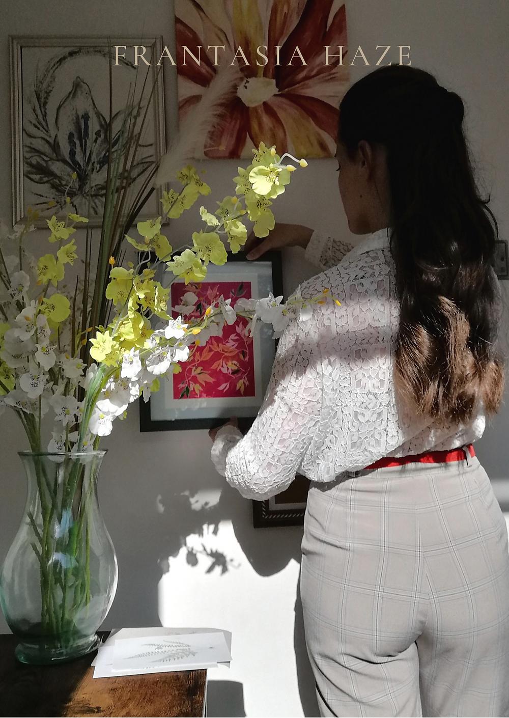 Frantasia Haze Studio. Interior Design. Floral Fabric. Curtain Fabric. Bold Fabric Design.