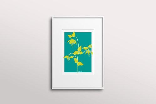 Fuchsia La Vine Bold Giclee Art Print,  Fuchsia Tropics