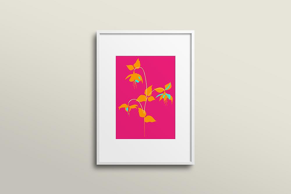 Frantasia Haze Art Prints. Floral Art Prints. Interiors. Harrogate Interiors.