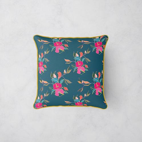 Hibiscus in Bloom Cushion - Evening in Hibiscus