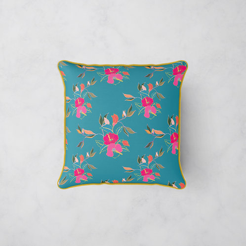 Hibiscus in Bloom Cushion - Summer Blooms