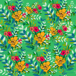 Beauteous Jungle in Parakeet, Fantasia Haze Pattern Design
