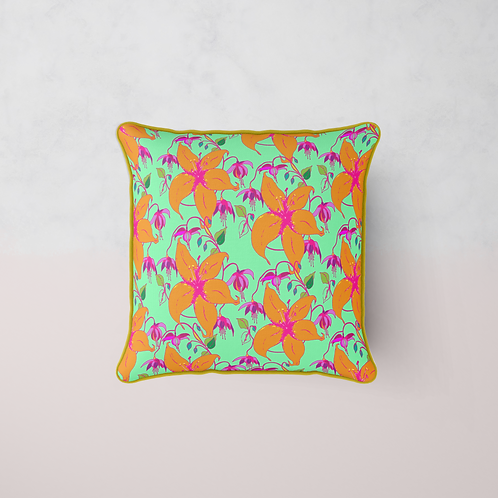 Lilia Bloom Cushion - Summer Mint