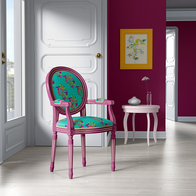 Frantasia Haze Interior Design Inspiration. Modern Interior Looks. Interior, Soft Furnishings and Upholstery Fabric. Upcycle Projects. Upcycled Chairs.