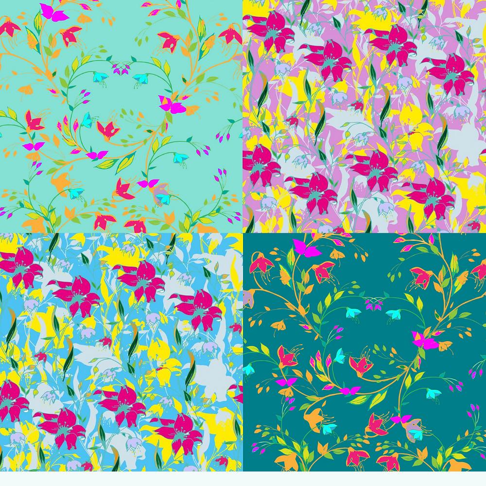 Frantasia Haze Surface Pattern Design, Freelance Illustrator