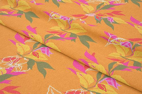 Hibiscus Leaf, Apricot Sunrise