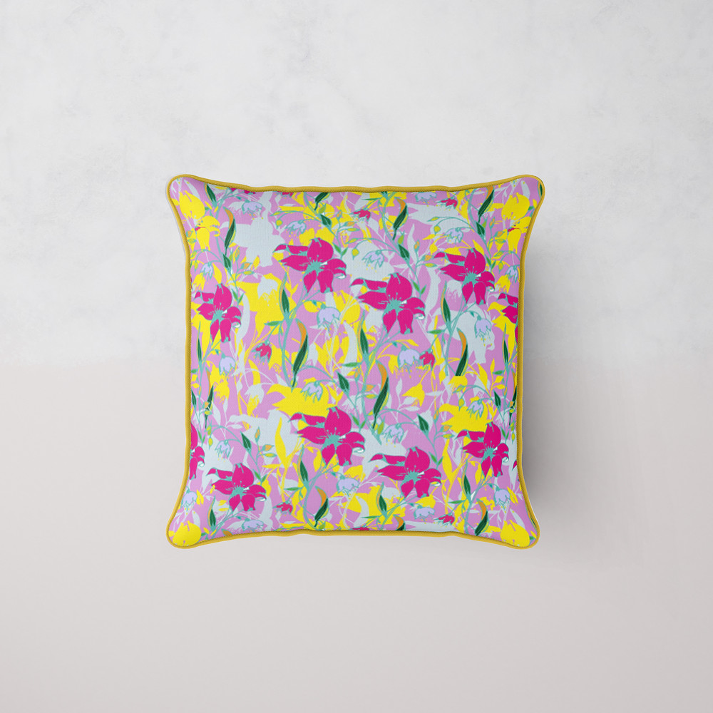 Frantasia Haze Cushions. Cushions. Floral Cushions. Bold Cushions. Colourful Cushions. Interior Cushions. Bespoke Cushions.
