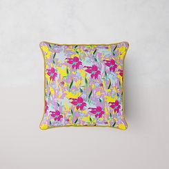 Frantasia Haze Cushions, Desert Lilly in Lila Lilly Zest. Bespoke Floral Cushions. Homeware Accessories Online. Handmade Luxury Cushions. Harrogate Cushion Design. Modern Cushion Design.