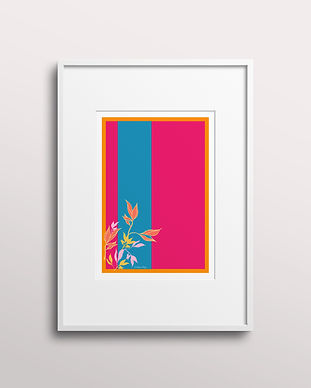 Frantasia Haze Giclee Art Prints. Bold and Floral Art Prints, Botanical Art Wall Décor for Contemporary Interior Design. Shop Summer Blooms, Hand Drawn Fine Art Print.