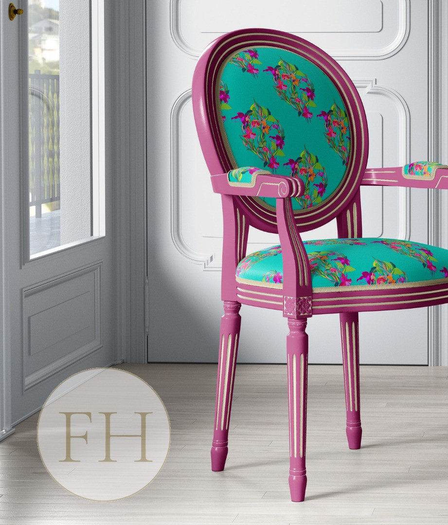 Frantasia Haze Interiors. Frantasia Haze Fabrics. Floral Fabrics. Luxury Fabrics. Harrogate. Interior Design.
