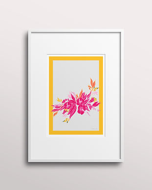 Frantasia Haze Giclee Art Prints. Bold and Floral Art Prints, Botanical Art Wall Décor for Contemporary Interior Design. Shop Blooming Hibiscus, Hand Drawn Fine Art Print.