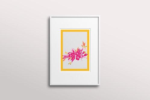 Blooming Hibiscus Giclee Art Print