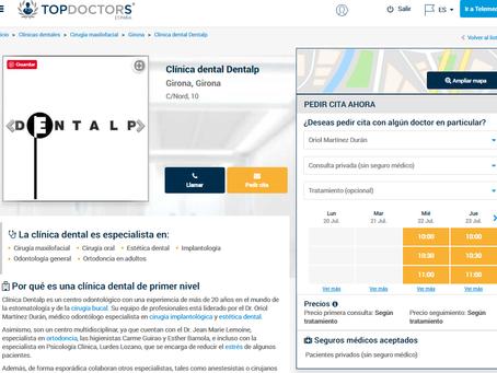 TOP DOCTORS selecciona al Dr. Oriol Martínez Durán y a DENTALP como referencia en La Cerdanya.