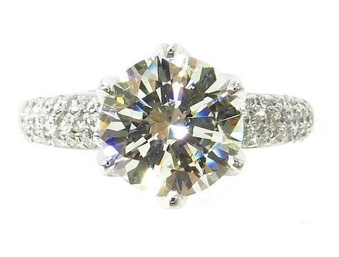 18k White Gold Pave Diamond Wedding Ring