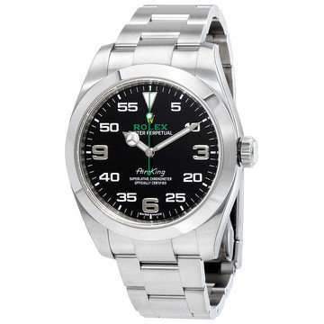Rolex Air King Black Dial Stainless Steel