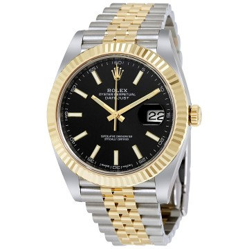 Rolex Datejust 41 Black Dial Steel and 18K Yellow Gold Jubilee