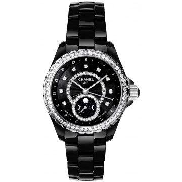 CHANEL J12 Black Dial Diamond Black Ceramic Automatic Ladies