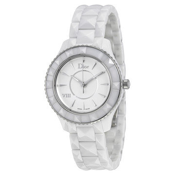 Dior VIII White Ceramic and Stainless Steel Ladies