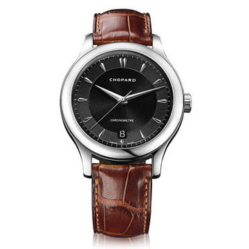 CHOPARD L.U.C Classic Black Dial Brown Leather Automatic Men