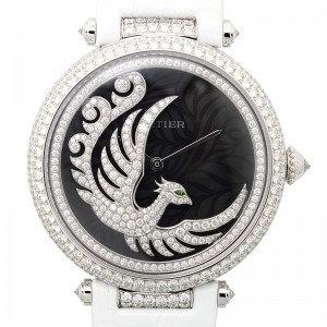 Cartier Bestiaire Evol D'un Phoenix Dark Purple Mother of Pearl with Diamonds Fe