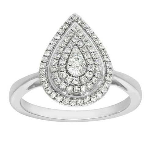 14K Solid Gold 0.30ctw Diamond