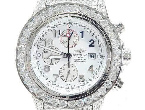 Breitling Super Avenger Fully Diamond Watch 42800 30.00ct