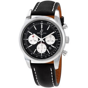 Breitling Transocean Chronograph Automatic Black Dial