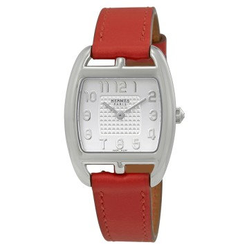 Hermes Cape Cod Silver Dial Ladies Leather