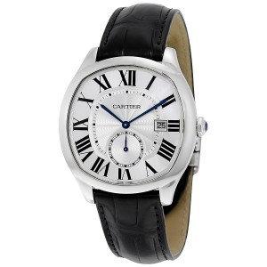 Cartier Drive Automatic Silvered Flinque Dial Men