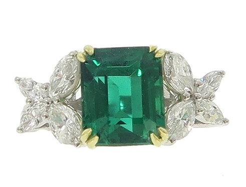 Butterfly Emerald Gemstone Diamond