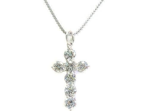 Prong Diamond Cross Crucifix  8.40ct