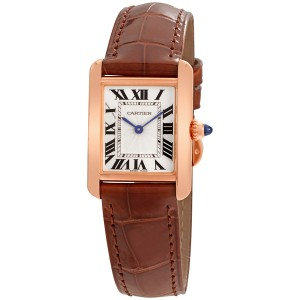 Cartier Tank Louis Silvered Beaded Dial Ladies