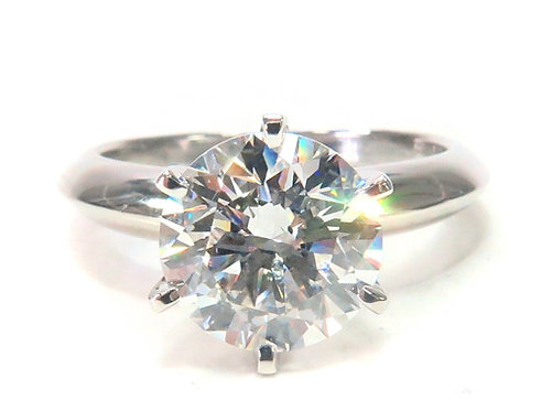 Pave Diamond Engagement Solitaire Ring