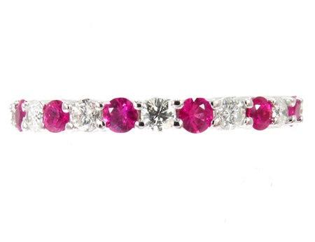 Pink Ruby & Diamond Ring