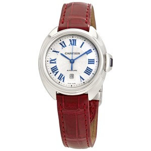 Cartier Cle de Automatic Silvered Dial Ladies