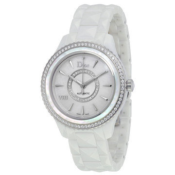 Dior VIII White Mother of Pearl Dial Ceramic Ladies