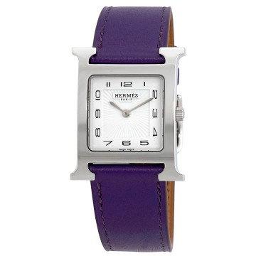 Hermes H Hour White Glazed Dial Ladies