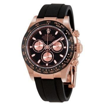 Rolex Cosmograph Daytona Black Dial 18K Rose Gold