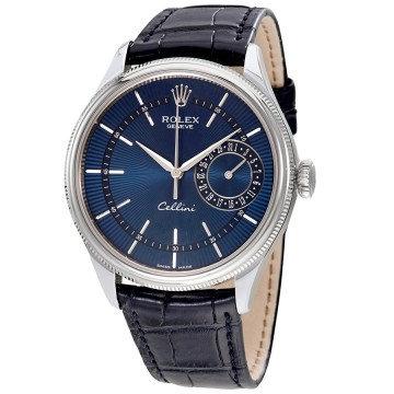 Rolex Cellini Blue Guilloche Dial Automatic
