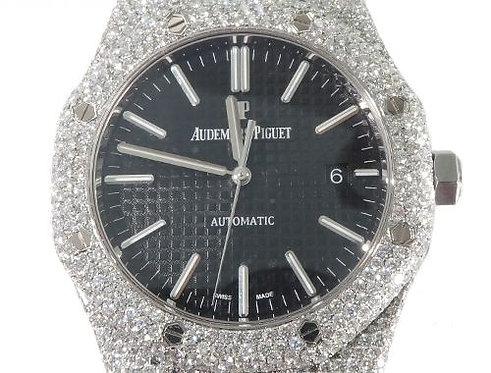 Full Diamond Royal Oak 41mm Audemars Piguet Watch 64057 23.34ct