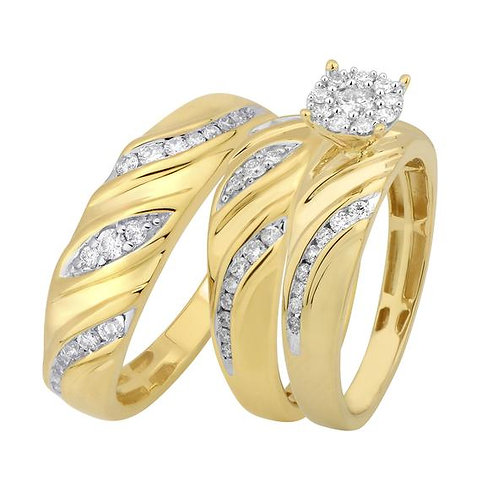 14K Solid Gold 0.90ctw