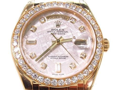 Diamond Rolex Day Date Masterpiece 18K Gold Watch 36603 3.20ct
