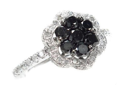 Prong Black Diamond Anniversary Ring