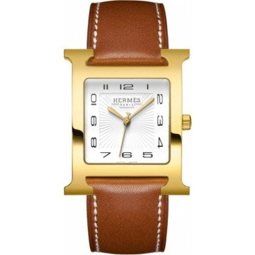Hermes Heure H White Dial Ladies Leather